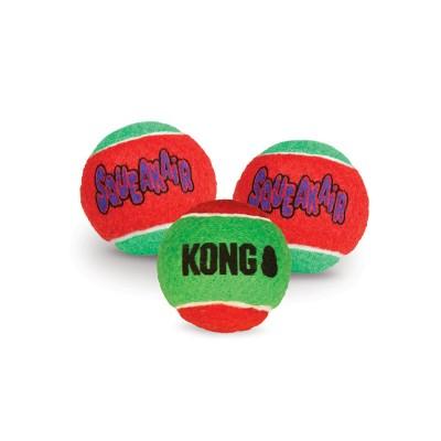 Kong Holiday Squeakair Bolas de Ténis NATAL