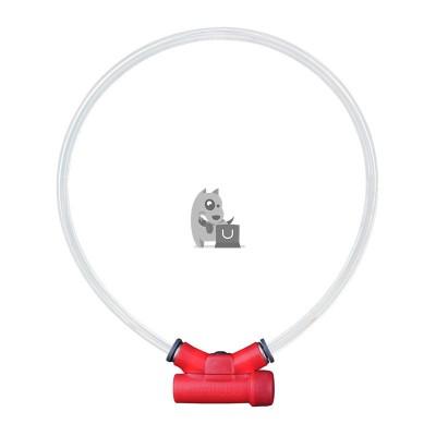 Red Dingo Lumitube coleira de LED vermelho