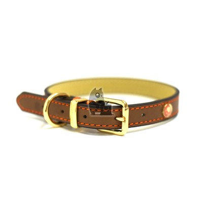 Rosewood Coleira Luxury Leather Tan
