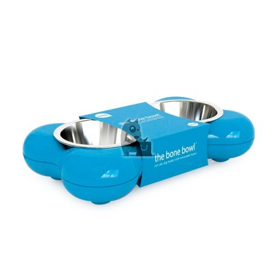 Hing The Bone Bowl comedouro bebedouro azul