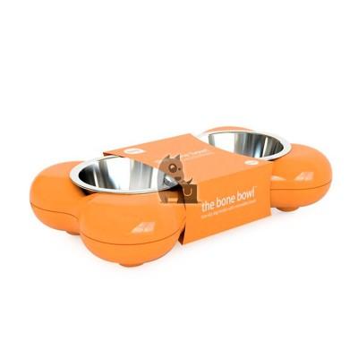 Hing The Bone Bowl comedouro bebedouro laranja