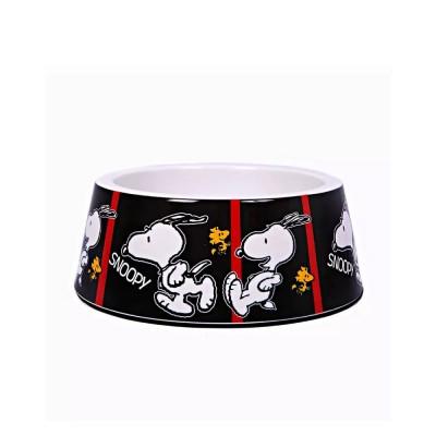 Zooz Pets Tigela de melamina Snoopy Film Black