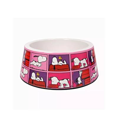 Zooz Pets Tigela de melamina Snoopy Pink