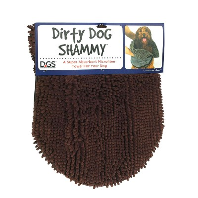 Dog Gone Smart Dirty Dog Toalha absorvente castanha