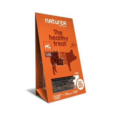 Naturea Treats semi-húmidos figado de porco