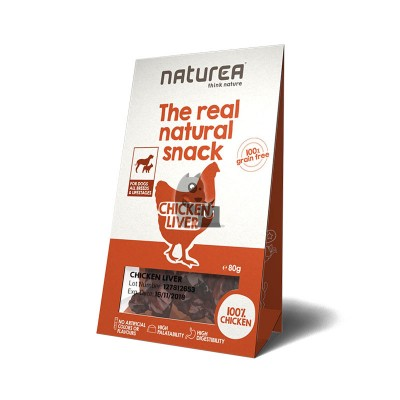 Naturea Snacks de fígado de galinha
