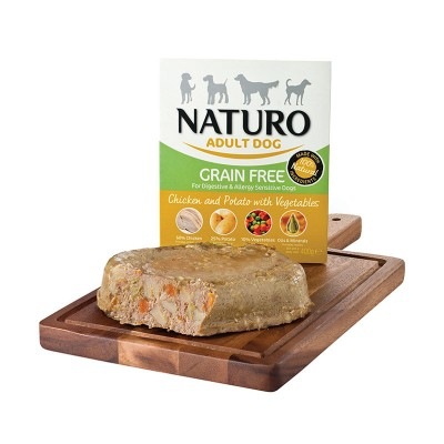 Naturo Adult GRAIN FREE Galinha com Batatas e Vegetais 400g