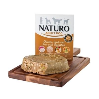 Naturo Adulto Galinha e Borrego com Arroz e Vegetais 400g