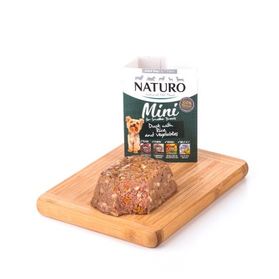Naturo Adulto MINI Pato com Arroz integral e Vegetais 150g