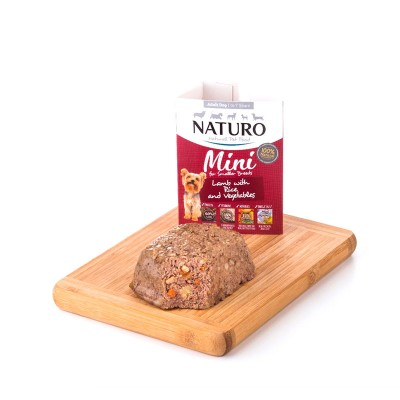 Naturo Adulto MINI Cordeiro com Arroz integrais e Vegetais 150g