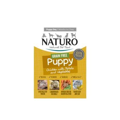 Naturo Puppy GRAIN FREE Galinha e Batata com vegetais 150g