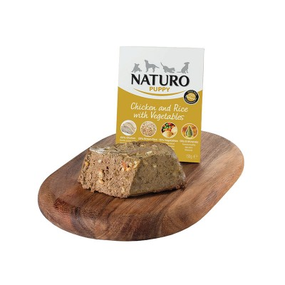 Naturo Puppy Galinha e Arroz integral com vegetais 150g