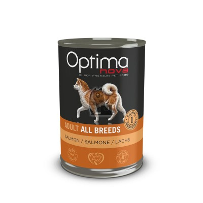 Optima Nova Wet Grain Free Salmão