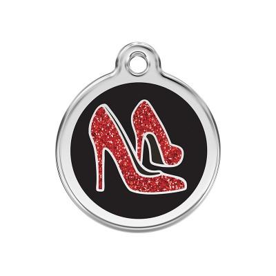 Red Dingo Medalha com BRILHO Sapatos Vermelhos