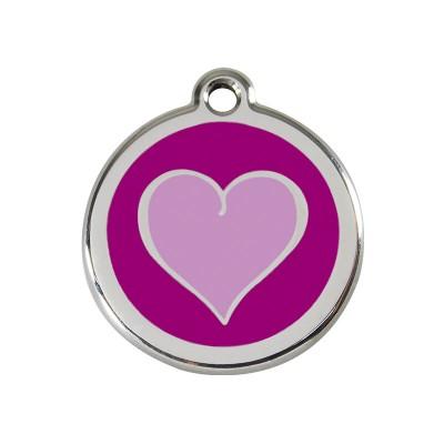 Red Dingo Medalha Coração Purple