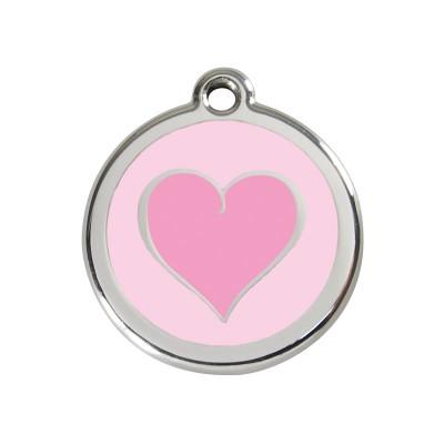 Red Dingo Medalha Coração HOT PINK in pink