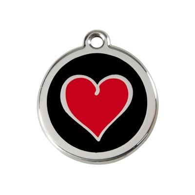 Red Dingo Medalha Coração Red in Black