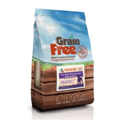Loja do Cão Grain Free Pato com Batata Doce e Laranja
