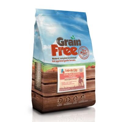 Loja do Cão Grain Free Salmão e Truta com Batata Doce e Espargos