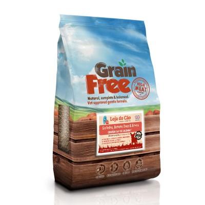 Loja do Cão Grain Free Small Breed Galinha, Batata Doce & Ervas