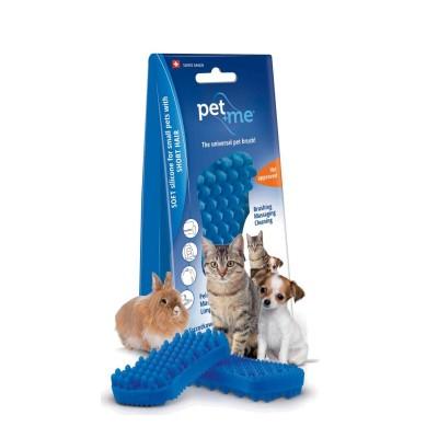 Pet+Me Escova Pêlo Curto Azul