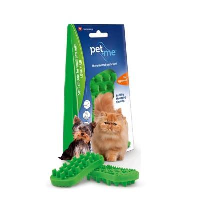 Pet+Me Escova Pêlo Longo Verde