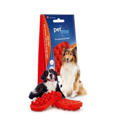 Pet+Me Escova Pêlo Longo Vermelha
