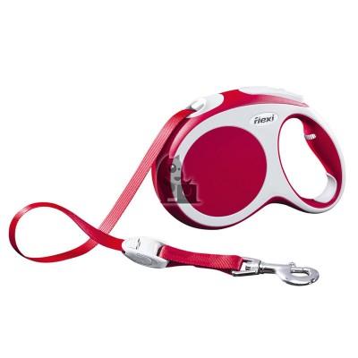 Flexi trela flexível Vario vermelha