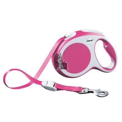 Flexi trela flexível Vario rosa