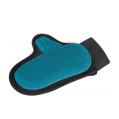 Trixie Luva de massagem com punho e cerdas protegidas