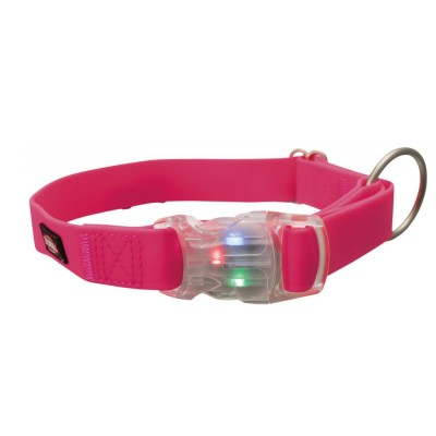 Trixie coleira LED EasyFlash com USB rosa