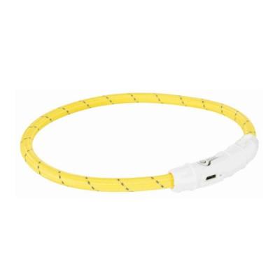 Trixie Flash Light Ring USB amarela
