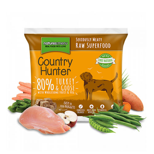 Natures Menu Country Hunter Raw Nuggets Turkey Goose