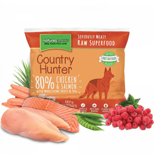Natures Menu Country Hunter Raw Nuggets Chicken Salmon