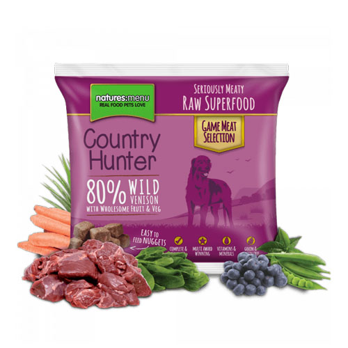 Natures Menu Country Hunter Raw Nuggets Venison